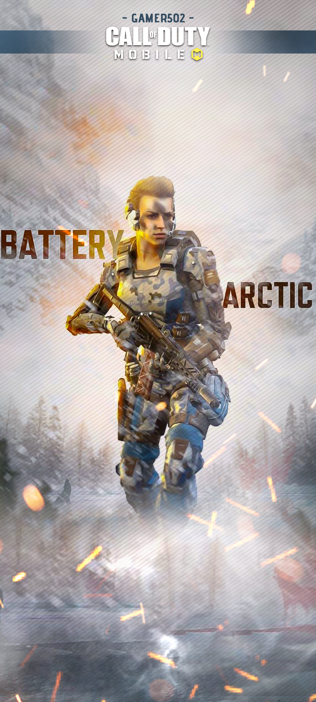 Call of Duty Mobile Wallpaper Battery Arctic